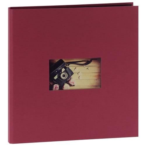 """""""STUDIO"""" 32x32 - 300 photos 10x15cm - 60 pages traditionnelles noires (Framboise + fenêtre)"""