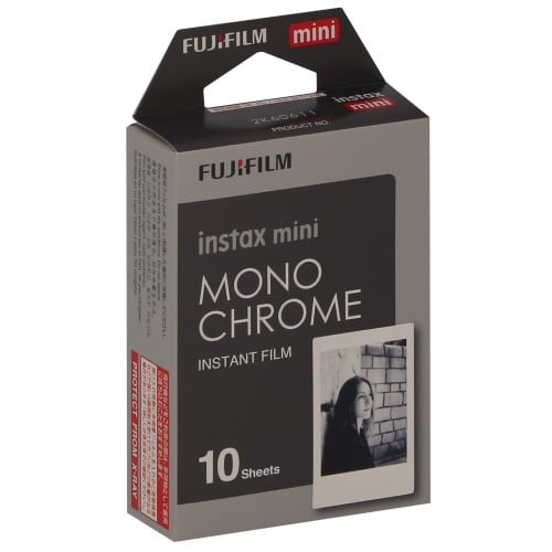FUJI - Film instantané Instax mini - Monochrome Noir & Blanc - Pack 10 photos