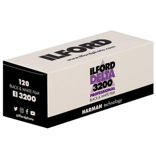 Film noir et blanc DELTA 3200 Format 120 - à l'unité