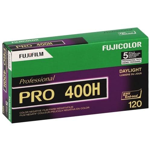 Pellicule photo pro FUJI Négatif couleur Fujicolor Pro 400 H Format 120 Pack de 5