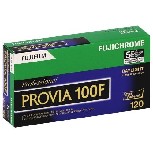 Pellicule photo pro FUJI Inversible couleur Fujichrome PROVIA 100F Format RDPIII 120 Pack de 5