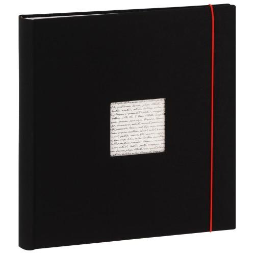 PANODIA - Album photo pochettes avec mémo LINEA - 100 pages blanches - 500 photos - Couverture Noire 34x37cm + fenêtre