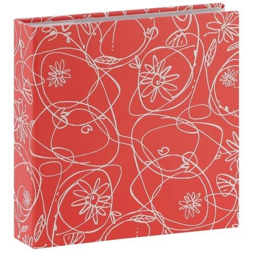 HAMA - Album photo pochettes avec mémo DECORI II - 100 pages blanches - 200 photos - Couverture Rose 22,5x22cm