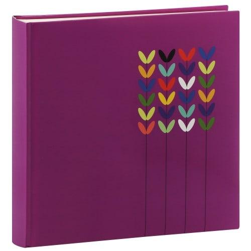 HAMA - Album photo traditionnel BLOSSOM - 80 pages blanches + feuillets cristal - 320 photos - Couverture Lilas 30x30cm