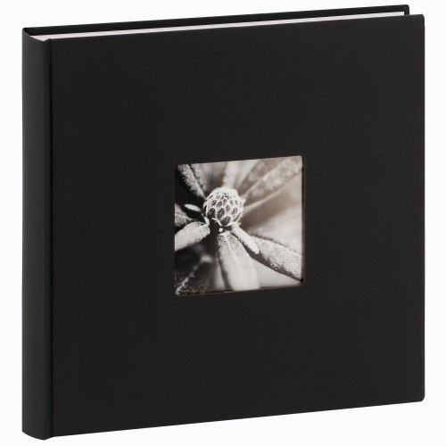 Jumbo Fine Art - 100 pages blanches + feuillets cristal - 400 photos - Couverture Noire 30x30cm