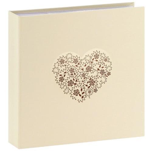 pochettes avec mémo ANZIO - 100 pages blanches - 200 photos - Couv. Beige 22,5x22cm