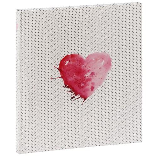 traditionnel Lazise - 50 pages blanches + feuillets cristal - 250 photos - Couverture Rose 29x32cm