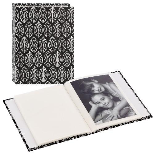 pochettes sans mémo La Fleur - 40 pages blanches - 40 photos - Couverture Noire 13x16,5cm