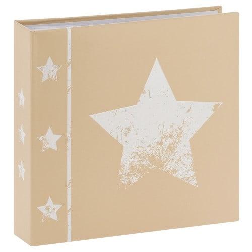 pochettes avec mémo Skies - 100 pages blanches - 200 photos - Couverture Beige 22,5x22cm + poche CD