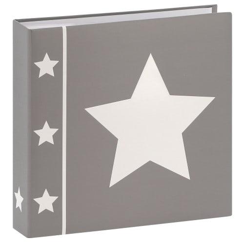 pochettes avec mémo Skies - 100 pages blanches - 200 photos - Couverture Grise 22,5x22cm + poche CD