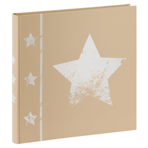 traditionnel Jumbo Skies- 60 pages blanches + feuillets cristal - 240 photos - Couverture Beige 30x30cm