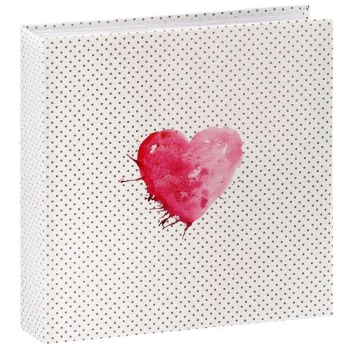 HAMA - Album photo pochettes avec mémo LAZISE - 100 pages blanches - 200 photos - Couverture Rose 22,5x22cm