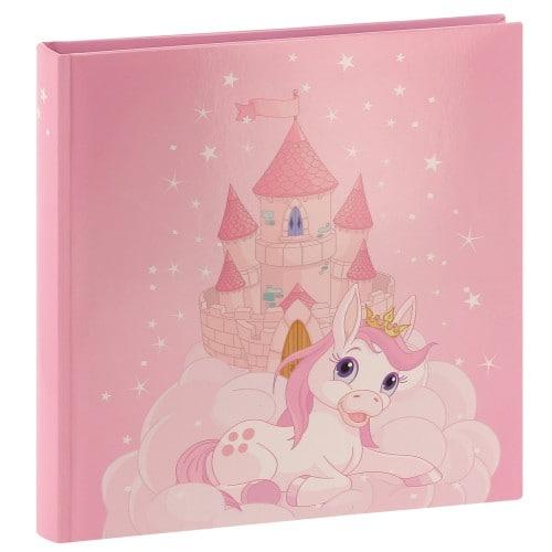 HAMA - Album photo traditionnel JOANA - 50 pages blanches + feuillets cristal - 100 photos - Couverture Rose 25x25cm