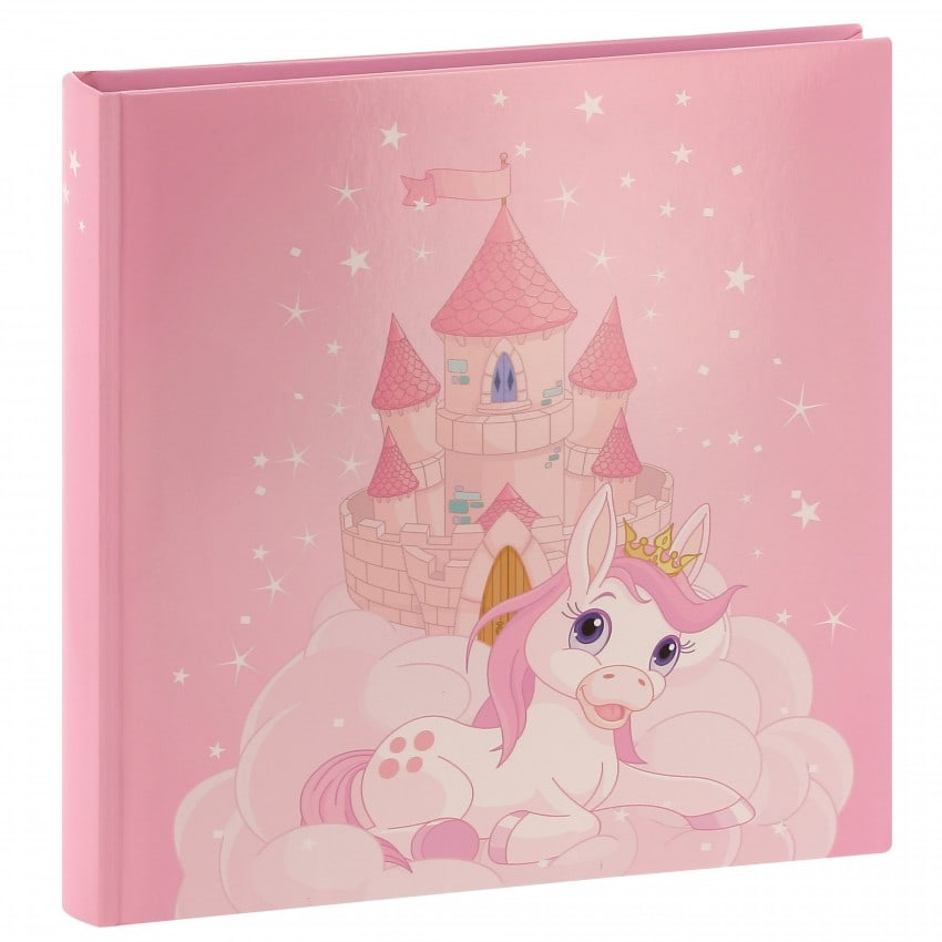 traditionnel JOANA - 50 pages blanches + feuillets cristal - 100 photos - Couverture Rose 25x25cm