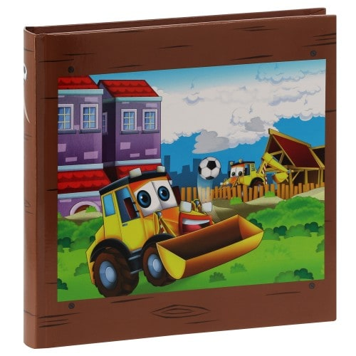 HAMA - Album photo traditionnel LUKE - 50 pages blanches + feuillets cristal - 100 photos - Couverture Multicolore 25x25cm