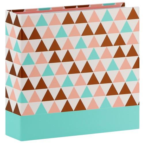 pochettes avec mémo Designline Triangle - 100 pages blanches - 200 photos - Couverture Multicolore 22,5x22cm + poche CD