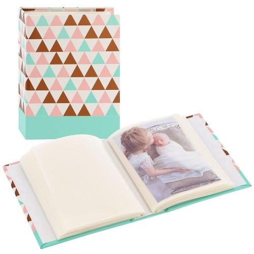 pochettes sans mémo Minimax Designline Triangle - 100 pages blanches - 100 photos - Couverture Multicolore 13x16,5cm