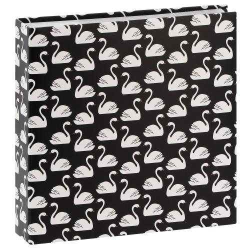 HAMA - Album photo pochettes avec mémo SWAN - 100 pages blanches - 200 photos - Couverture Noire 22,5x22,5cm
