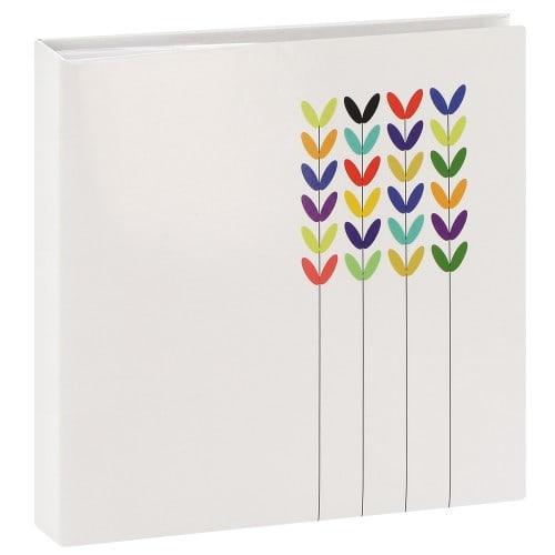HAMA - Album photo pochettes avec mémo BLOSSOM - 100 pages blanches - 200 photos - Couverture Blanche 22,5x22,5cm