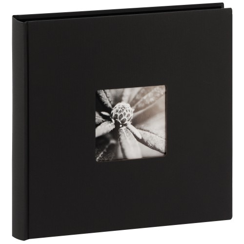 HAMA - Album photo traditionnel FINE ART JUMBO - 100 pages noires + feuillets cristal - 400 photos - Couverture Noire 30x30cm + fenêtre