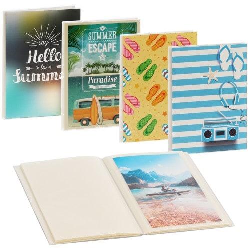 Summerly pochettes sans mémo - 24 pages blanches - 24 photos - Couverture Coloris aléatoire 16,5x12,5cm - à l'unité