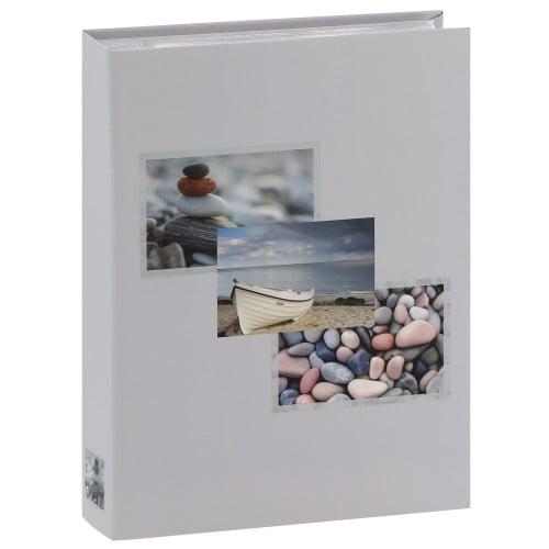 HAMA - Album photo pochettes avec mémo STONES - 100 pages blanches - 200 photos - Couverture Grise 19x25cm