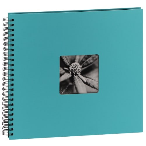 traditionnel Jumbo Fine Art - 50 pages noires - 300 photos - Couverture Turquoise 36x32cm