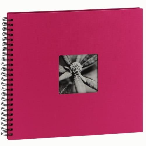traditionnel Jumbo Fine Art - 50 pages noires - 300 photos - Couverture Rose 36x32cm
