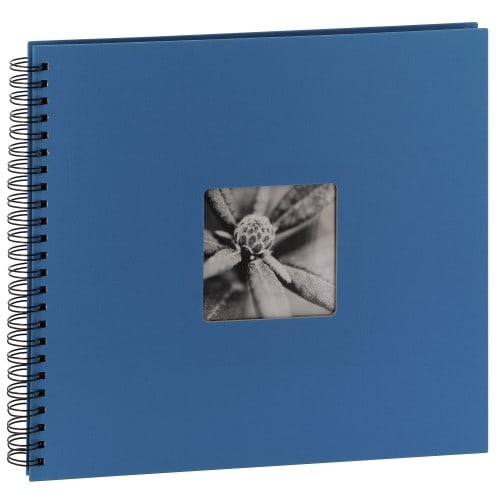 traditionnel Jumbo Fine Art - 50 pages noires + feuillet cristal - 300 photos - Couverture Bleu azur 36x32cm