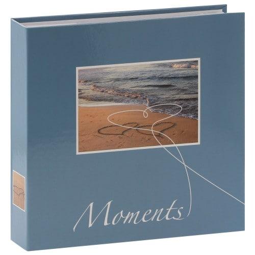 HAMA - Album photo pochettes avec mémo LIVORNO - 100 pages blanches - 200 photos - Couverture Bleue 22x22cm