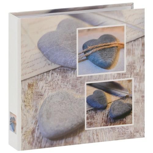 HAMA - Album photo pochettes avec mémo CATANIA - 100 pages blanches - 200 photos - Couverture Grise 22x22cm