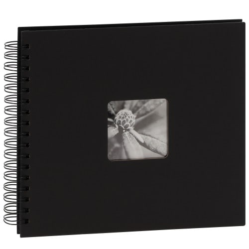 HAMA - Album photo traditionnel JUMBO FINE ART - 50 pages noires + feuillet cristal - 100 photos - Couverture Noire 28x24cm