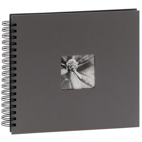 traditionnel Fine Art - 50 pages noires + feuillet cristal - 100 photos - Couverture Grise 28x24cm