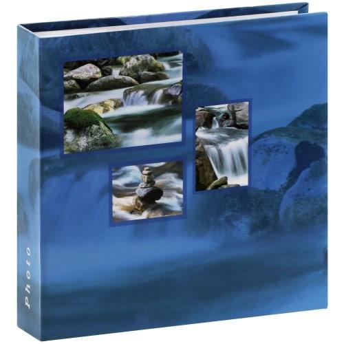 HAMA - Album photo pochettes avec mémo SINGO - 100 pages blanches - 200 photos - Couverture Bleue 22x22cm