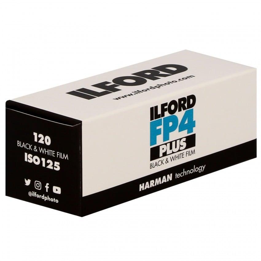 Pellicule photo noir et blanc ILFORD FP4 PLUS 125 Format 120 L'unité