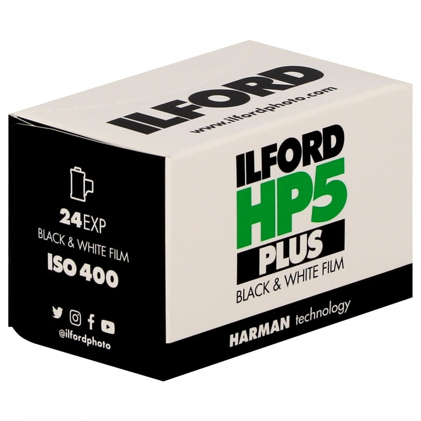Pellicule photo noir et blanc ILFORD HP5 PLUS 400 Format 135 - 24P L'unité