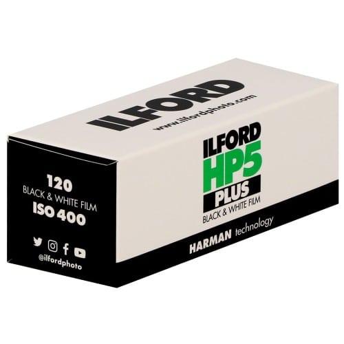 Film noir et blanc HP5 PLUS 400 Format 120 - à l'unité