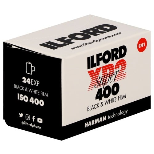 ILFORD - Pellicule photo noir et blanc XP2 SUPER 400 Format 135 - 24P L'unité