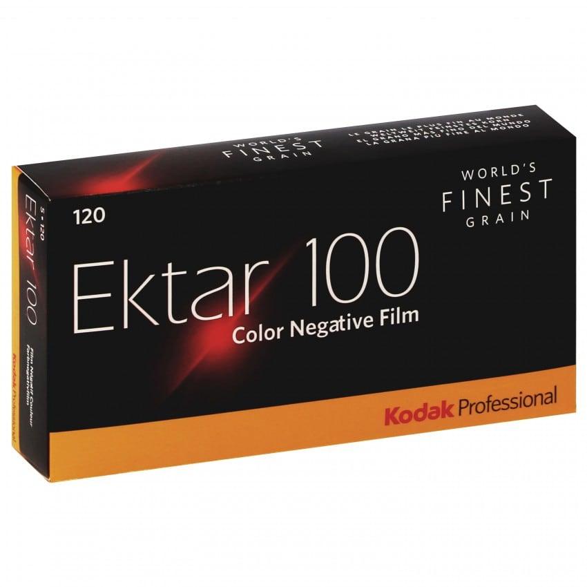 Pellicule photo pro KODAK Négatif couleur EKTAR 100 Format 120 Pack de 5