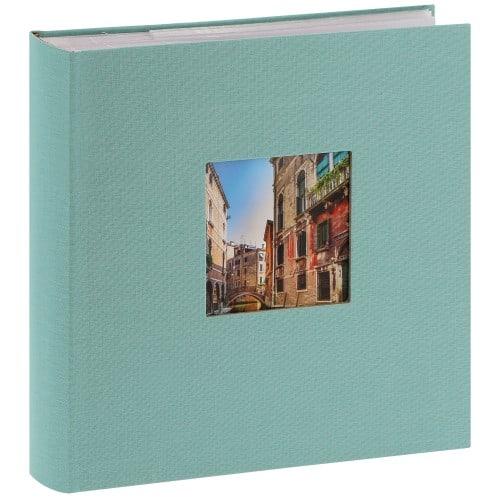 GOLDBUCH - Album photo pochettes avec mémo BELLA VISTA - 100 pages blanches - 200 photos - Couverture Verte 23x23cm + fenêtre