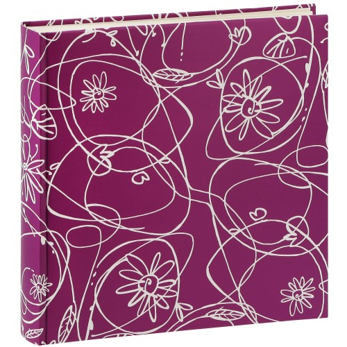 traditionnel DECORI II - 100 pages blanches + feuillets cristal - 400 photos - Couverture Lilas 30x30cm