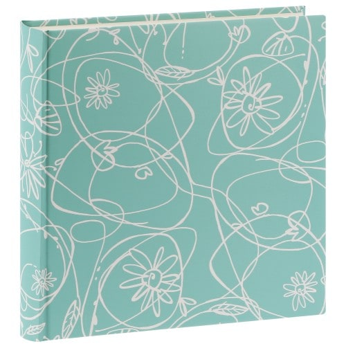 traditionnel DECORI II - 100 pages blanches + feuillets cristal - 400 photos - Couverture Vert menthe 30x30cm