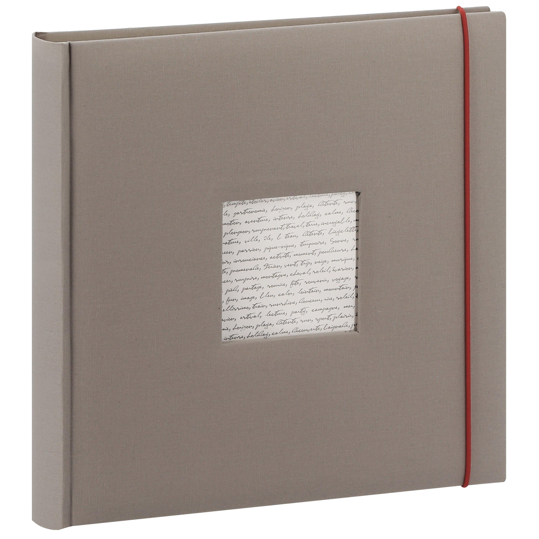 PANODIA - Album photo traditionnel LINEA - 60 pages ivoires + feuillets cristal - 240 photos - Couverture Grise 30x30cm + fenêtre