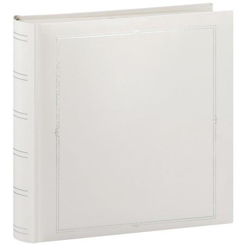PANODIA - Album photo traditionnel VENUS - 126 pages blanches + feuillets cristal - 500 photos - Couverture Blanche 30x30cm