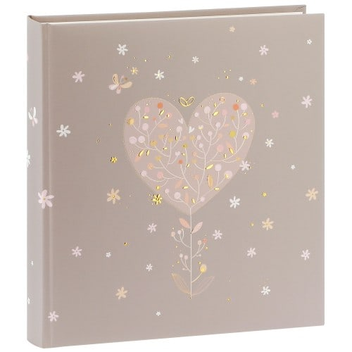 GOLDBUCH - Album photo traditionnel ELEGANT HEART - 60 pages blanches + feuillets cristal - 240 photos - Couverture 30x31cm