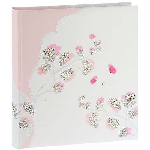 traditionnel Cherry Blossom - 60 pages blanches + feuillets cristal - 240 photos - Couverture 30x31cm