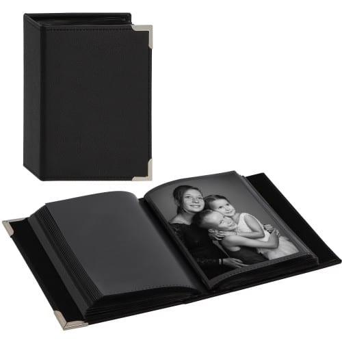 HAMA - Mini album pochettes sans mémo NEW YORK CITY MINIMAX - 100 pages noires - 100 photos - Couverture Noire 13x16.5cm