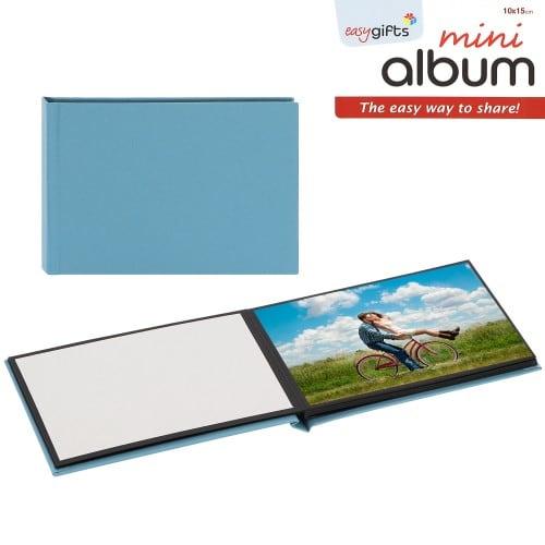 pré-encollé EasyAlbum - Bleu - Pour 10 tirages 10x15cm - Orientation paysage