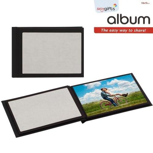 Mini album photo MITSUBISHI pré-encollé EasyAlbum - Noir - Pour 12 tirages + la couverture 10x15cm - Orientation paysage