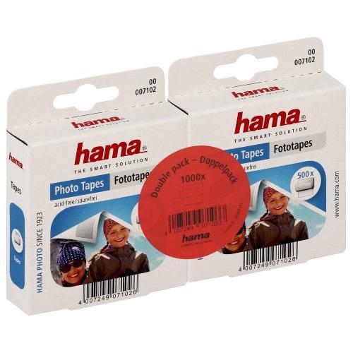 HAMA - Pastilles double face - Pack de 2 Boîtes de 500 (soit 1000 pastilles double face pour 250 photos)